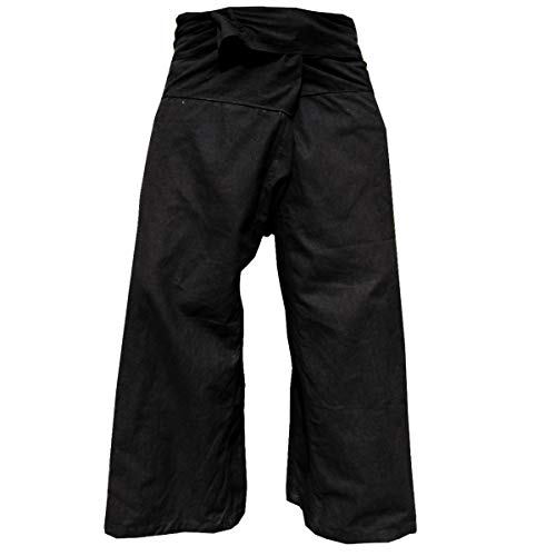Panasiam Thai Fisherman Hose , Schwarz , XL