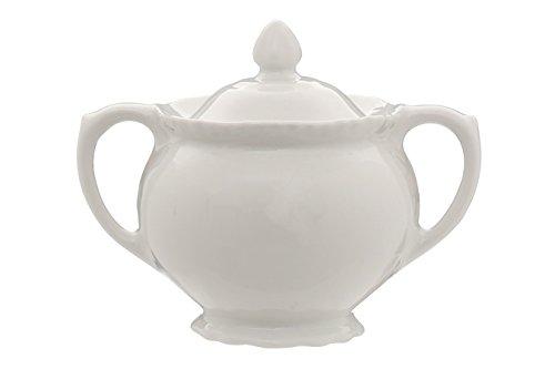 Premier Housewares Bol à Sucre en Relief en Porcelaine – Blanc