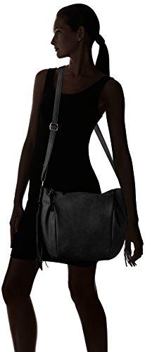 Tom Tailor Denim Damen Jasi Schultertaschen, 37 x 25 x 10 cm Schwarz (schwarz 60)