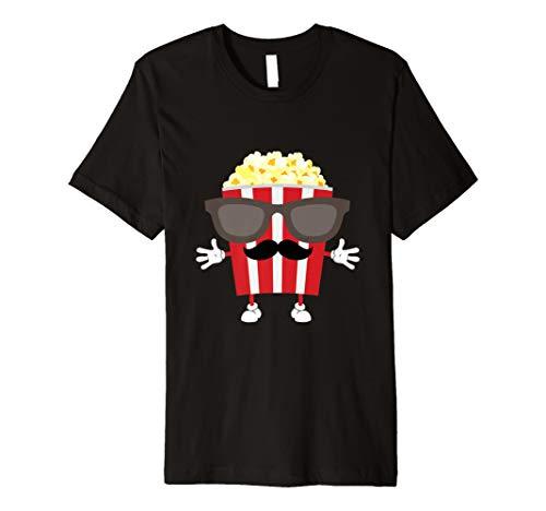 Popcorn Behälter mit Sonnenbrille & Schnurrbart T Shirt