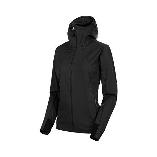 Mammut Damen Ultimat V Hooded Softshell-Jacke mit Kapuze, Black, L