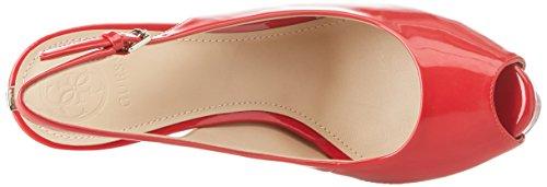 Indovina Vestito Da Calzatura Damerino Fionda Indietro Plateaupumps Rosso (rosso Medio)
