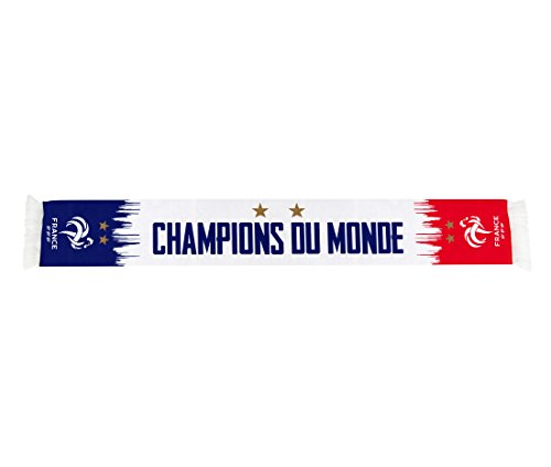 Equipe de FRANCE de football Echarpe FFF - Champion du Monde 2018 - Collection Officielle Taille 140 cm