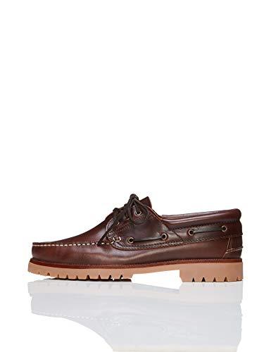 FIND Chunky Leather Boat Shoe, Herren Segelschuhe, Braun (Cognac), 45 EU