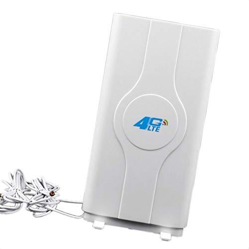 Floridivy TS9 / SMA / CRC9 Steckverbinder 3G 4G Indoor extrem SMA Antenne schnelle 3G 4G 88dBi LTE MIMO-Antenne 700MHz-2600MHz und 2M Kabel weiß3