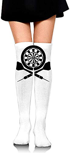 Womens Dart (vbcnfgdntdy Knee High Socks Darts Board Logo Women's Athletic Over Thigh Long Stockings)