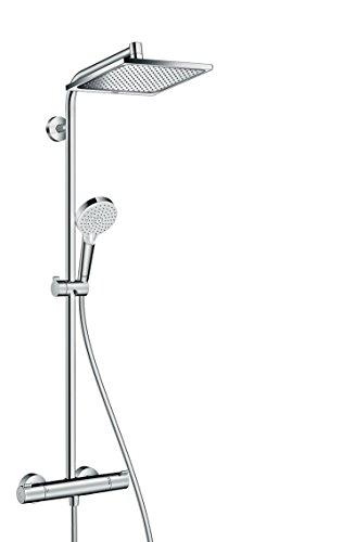 hansgrohe Crometta E 240 wassersparendes Duschsystem, 2 Strahlarten, Chrom