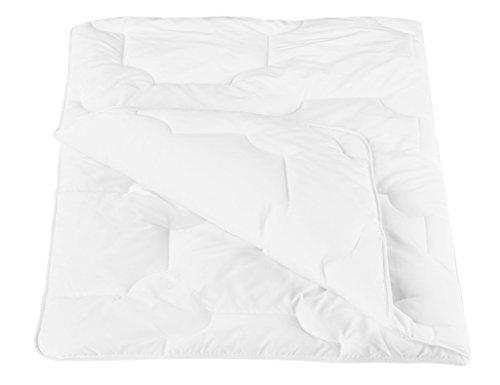 ZOLLNER® kochfeste Kinderbettdecke / Kinderdecke / Babydecke versteppt, Größe 100x135 cm weiß, direkt vom Hotelwäschehersteller, Serie