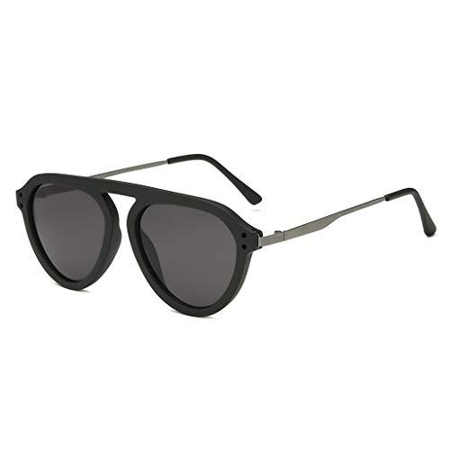 BOLANQ Damenmode große Breite Sonnenbrille integrierte sexy Vintage Brille(Mehrfarbig(D))