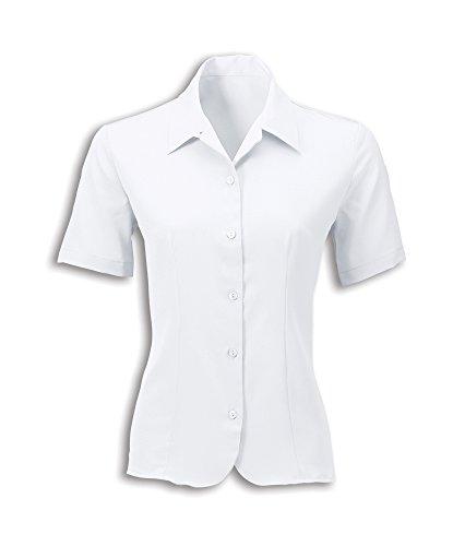 Alexandra stc-2035wh-08Damen Crepe de Chine Bluse, Uni, 100% Polyester, Größe: 8, weiß (Bluse De Crêpe Chine)