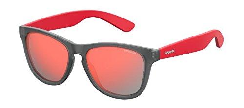 Polaroid Mirrored Wayfarer Women's Sunglasses - (P8443 268 55OZ|55|Transparent Color) image