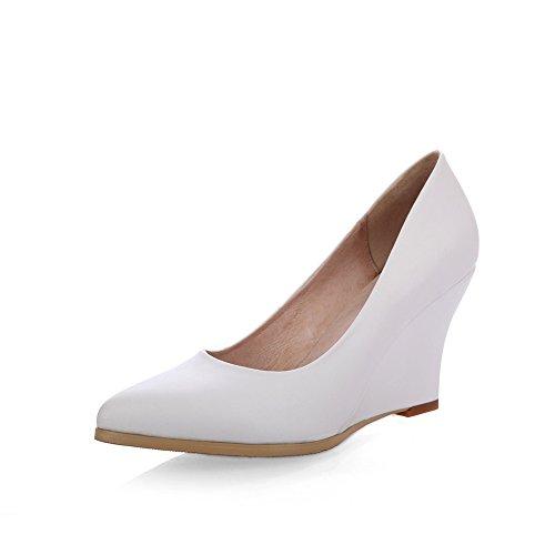 Inconnu 1TO9 Mms05300, Sandales Compensées Femme Blanc