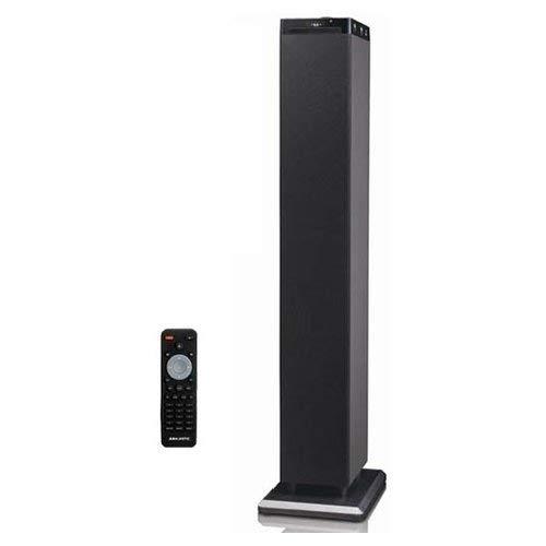 Majestic TS 92 CD BT USB AX - Altoparlanti a torre con Bluetooth NFC, Lettore CD/MP3, doppia USB, ingresso AUX-IN, radio FM, telecomando, Nero