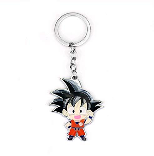 VAWAA Jungen Männer Hot Anime Dragon Ball Z Sohn Goku Figur Mode Schlüsselanhänger Super Saiyajin Metall Anhänger Schlüsselanhänger Schmuck Schlüsselanhänger