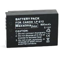 Maxsimafoto - Compatible LP-E12 Battery 900mAh For Canon EOS M, EOS-M Digital Camera & EOS 100D.