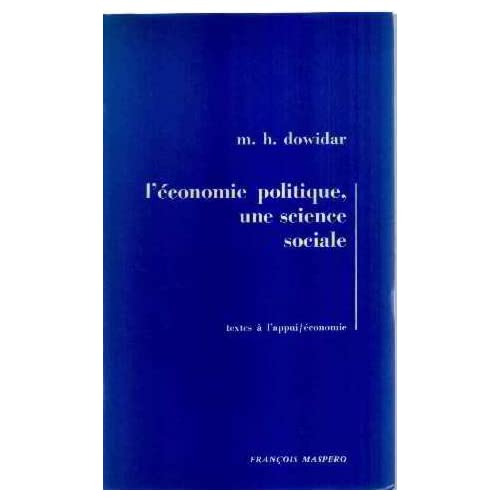 L'économie politique, une science sociale