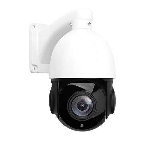 Kamera 5MP H.265 PTZ IP-Sicherheits-Domekamera mit 30fachem optischem Zoom, Schwenk- / Neigefunktion und wasserdichtem IR-Cut-Nachtsichtgerät für die Sicherheit im Innen- und Außenbereich (White) - Mit Dvr Ptz