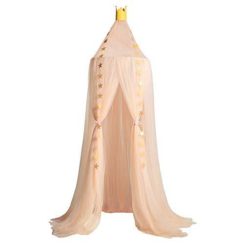 Souarts Betthimmel Baldachin Dekohimmel für Kinder Zimmerm, Fliegennetz Mückenschutz für Kinderbetten chic Vorhang 240cm