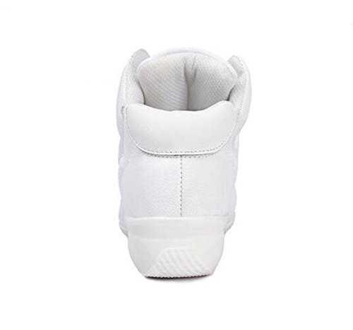 Scarpe da donna Dance in pelle Soft Split Sole moderno Jazz Sneaker Taglia 36To40 Bianca