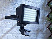 Luminea Außenstrahler 60x 0,06-W-LEDs, PIR-Sensor, Spritzwasserschutz von Luminea - Lampenhans.de