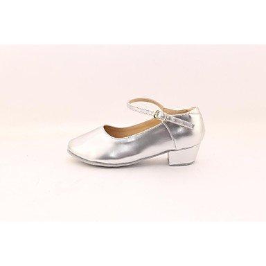 Silence @ Femme/enfants Chaussures de danse latine Talon Plat Rose/argenté/doré Rose