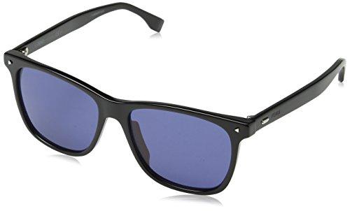 Fendi Herren FF M0002/S KU 807 55 Sonnenbrille, Schwarz (Black Blue)