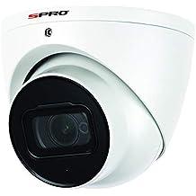 SPRO 4K (8MP) 2.8mm Starlight HDCVI CCTV Eyeball Camera 50m Smart IR Built-in Microphone IP66 – White (Refurbished)