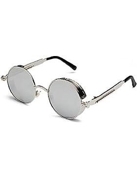 Vintage Steampunk gafas de sol Ronda Metal Mujeres Hombres Retro Círculo Sunglasses