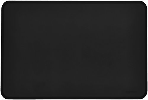AmazonBasics - Alfombrilla para comedero de mascota, de silicona, impermeable, 61 x 41 cm, Negro