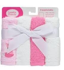 Luvable Friends 4pièces Ensemble de gants de toilette Fox