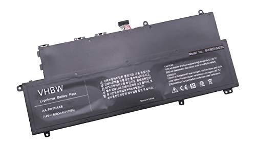vhbw Li-Polymère Batterie 6000mAh (7.4V) Noir pour Laptop Notebook Samsung 530U3, 530U3B, 530U3B-A01, 530U3B-A02, 530U3B-A04, 530U3C, 530U3C-A01