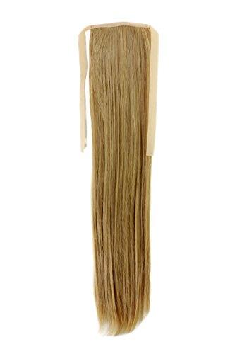 Haarteil ZOPF Blond glatt 45cm YZF-TS18-86 Band Haar Klammer Haarverlängerung (Für Wickeln Haare Zöpfe)
