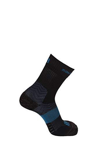 Salomon 1 Paar Leichte Unisex-Socken, Outpath Mid, schwarz/blau (moroccan blue), Größe XL (45-47), L40276000 -