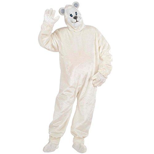 Plüsch Knut Ganzkörperkostüm Polarbär Plüschkostüm Weißer Bär Strampler Eisbären Jumpsuit Maskottchen Tierkostüm Outfit Verkleidung (Eisbär Maskottchen Kostüme)