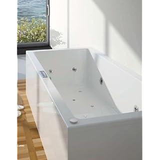Whirlpool / Badeanne Acryl Lusso weiß 180x80
