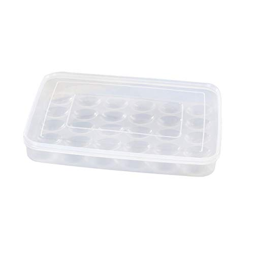 Grizack 30 Caja para Huevos de Gran Capacidad apilable para Guardar Alimentos en el frigorífico