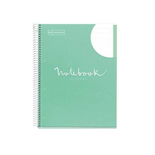 Miquelrius Cuaderno A4 Emotions Menta 80 hojas Interior Punteado