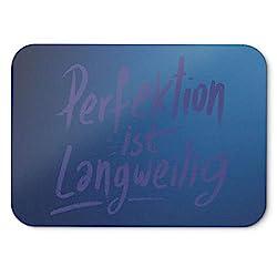 BLAK TEE German Perfektion Ist Langweilig Slogan Mouse Pad 18 x 22 cm in 3 Colours Blue