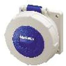 Mennekes 101100290 Bases Murales CEE, Tomas de Corriente, 230 V, 50-60 Hz, 16 A, 3 Polos, IP 67, Azul