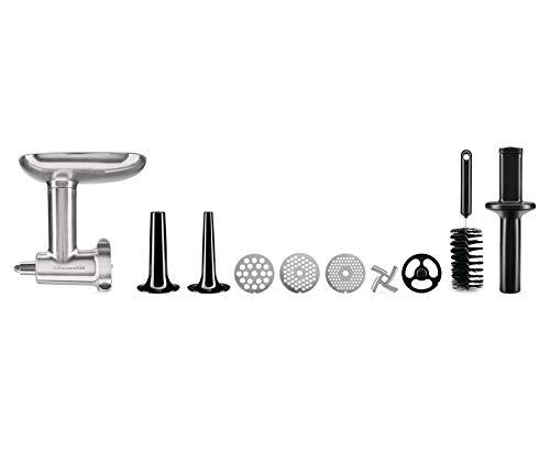 KitchenAid 5KSMMGA Tritatutto di Metallo, Accessorio per Robot da Cucina, Argento