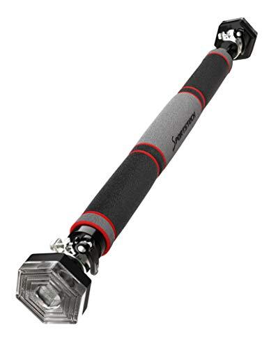 Sportstech Klimmzugstange mit einzigartigem hexagonalem System KS200 - mit 3-Schichtpolsterung, Sicherheitsspannhebel, 6 Druckpunkten & außergewöhnlichem Design, Teleskopstange inkl. eBook