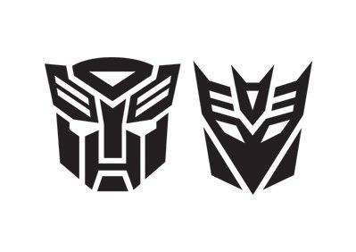Transformers-Decepticon Auto Aufkleber Autobot Decal Blackx2 (Logo Decepticon)