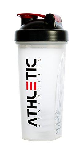 Preisvergleich Produktbild Proteinshaker - Protein Shaker - Eiweißshaker - Eiweiß Shaker für Proteinpulver - Eiweissshaker - Eiweiss Shaker - ATHLETIC AESTHETICS