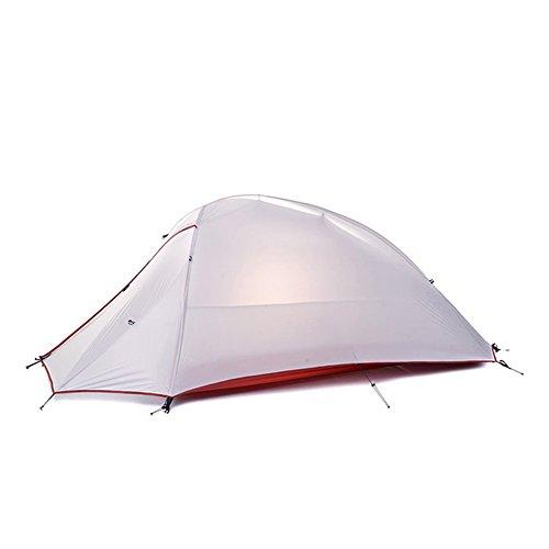 NatureHike Im Freien Wasserdichte Zelt Doppelschicht Zelt Ultraleicht Camping Zelt fur 1 Personen(Gray)