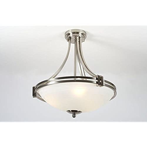 Cotterell co los angeles large satin nickel semi flush