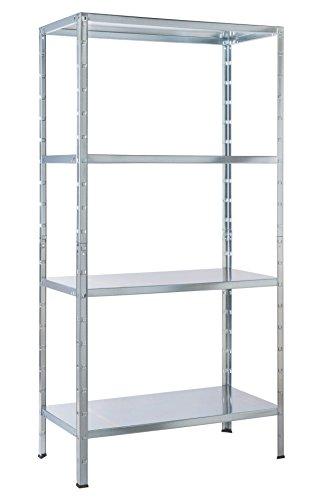 Regal Steckregal Metall verzinkt 137x75x30cm Traglast 200kg 4 Böden Schulte
