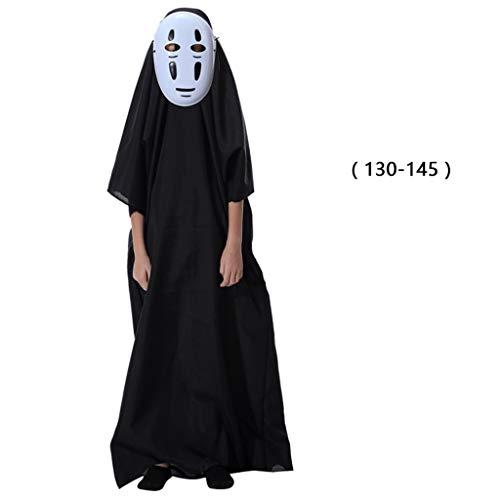 Anime Männliche Cosplay Kostüm - XXW Halloween Eltern-Kind Erwachsene Kinder No Face Spirited Away Männliche Cosplay Kleidung Kindergarten Kostüme Halloween Kindergarten Kostüme Anime (Roben + Masken)
