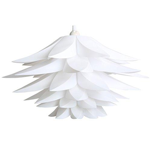 ledmomo Deckenleuchte Pendelleuchte Schatten Lotus Kronleuchter Lampe (weiß) - Lotus Schatten