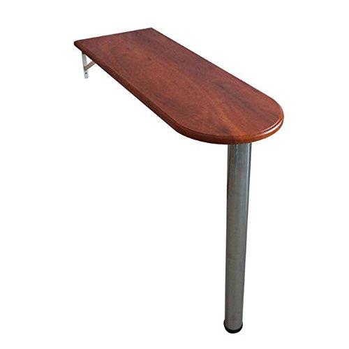 Desk Xiaolin Home Bar Tisch High Foot Tisch Wand-Tisch Bar Tisch Einfache und Moderne Nicht-Faltbare Optionale Farbe (Farbe : Holz, größe : 80 * 40 * 74.3cm)