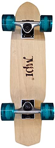 MPI Kicktail Maple Laminate Complete Skateboard, 6.25x25 Assorted Wheel